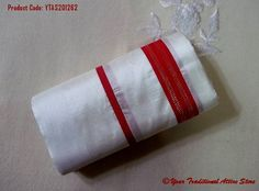 The 'Mukhli' is the most admired among young ladies. The white silk with only a simple red border. To even make it affordable to everyone, there is an imitation as well which is available at a lesser price.