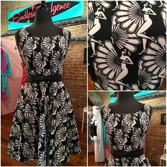 Oh our new Art Deco dress is lovely  fit, flare & pockets. S - XL at Endless Indulgence Retro Wear   #artdeco #classic #retrofashion #madeintheusa #summerdress #instyle #dresswithpockets #shophistoric25thstreet #historic25thstreet #ogden #pinupgirl #classicstyle #retroonabudget