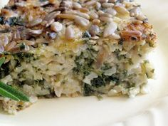 Moosewood's spinach and brown rice casserole - used to make this when i was a vegetarian, yummy