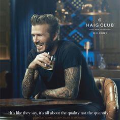 David Beckham em foto de divulgação da marca (Foto: Reprodução/Facebook)