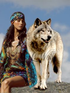 #Lady Wolf Native American Proverb, Native American Girls, Native American Beauty, Fantasy Wolf, Dark Fantasy Art, Wolf People, Wolves And Women, Wolf Artwork, Owl Photos