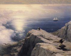 A Rocky Coastal Landscape in the Aegean by Ivan Aivazovsky