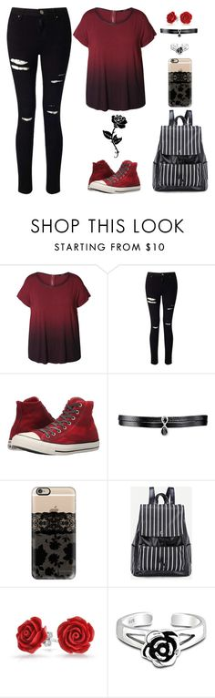 """Roses"" by lucy-wolf ❤ liked on Polyvore featuring Dex, Miss Selfridge, Converse, Fallon, Gypsy, Casetify, Bling Jewelry and plus size clothing"