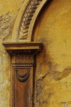 yellow texture in arch and wall