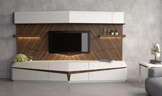Modern TV Unit -Wooden Rich Design for Luxurious Room Interiors Modern Tv Unit Designs, Wall Unit Designs, Modern Tv Wall Units, Living Room Tv Unit Designs, Tv Set Design, Tv Wall Design, Lcd Units, Istanbul, Tv Cabinet Design