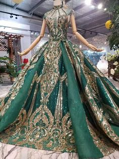 luxury green Arabic Evening Gown with chapel train - Nirvanafourteen Green Evening Dress, Green Dress, Evening Dresses, Sequin Bridesmaid Dresses, Wedding Dresses, Prom Dresses, Gowns With Sleeves, Cap Sleeves, Fantasy Dress