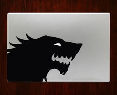 Game of thrones stark symbol Winter Decals Stickers For Macbook 13 Pro Air Decal #RusticDecal