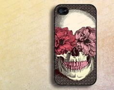 floral skull iphone 4 cases iphone 4s casesiphone by janicejing, $8.99