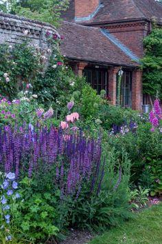 Small English Garden, English Garden Design, English Country Gardens, English Flower Garden, English Flowers, Back Gardens, Outdoor Gardens, Meme Design, Cottage Garden Plants