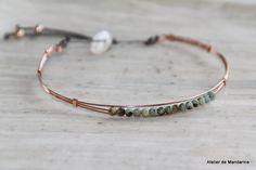 Bracelet jonc collection Les Minis en plaqué par AtelierdeMandarine