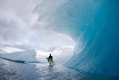 Amazing frozen wave..photo by Todd Glaser