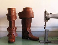 Items similar to Bespoke Leather Bucket Boots on Etsy Italian Shoes For Men, 17th Century Clothing, What Men Want, Wedding Function, Renaissance Fair, Custom Leather, Historical Clothing, How To Run Longer, Riding Boots