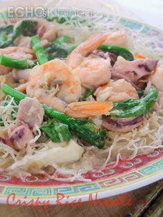 A taste of memories -- Echo's Kitchen: Seafood Crispy Rice Noodle