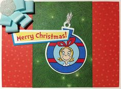 """Cindy Lou Who wishing you a """"Merry Christmas"""" - card by Susan M. Brown {sbartist} using Unscripted Sketches #160"""