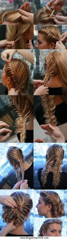 LovelyHairstyleTutorials|MagazinaOnline.com Just dye your hair purple gold and green in layers and it would make a beautiful mardi gras hairstyle.