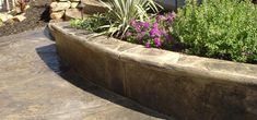 Stamped Concrete Borders & Wall Caps for Seat Walls and Planters