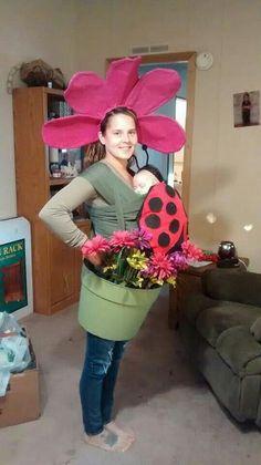 Ladybug only Flowerpot and Ladybug Babywearing Costume.