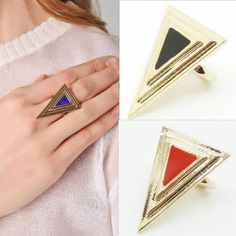 Min mixed order 10USD Fashion metal j199 quality geometry triangle ring new arrival female Free shipping on AliExpress.com. $0.71