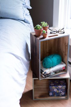 Fun idea to add to wooden crates