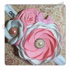 Ribbon Art, Ribbon Crafts, Making Hair Bows, Felt Fabric, Hairbows, Cute Crafts, Flower Making, Baby Headbands, Fabric Flowers