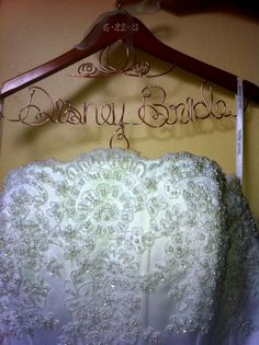Beautiful Fairytale Princess Cinderella Disney Themed Personalized Bridal Wedding Hanger. Ships in 24 Hours with NO Rush Fees. $28.00, via Etsy.