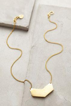gold chevron pendant necklace #anthrofave