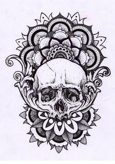 Skull mandala Más