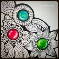Alphabee Tangles: Gems