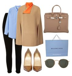 """""""🍂"""" by burcaak ❤ liked on Polyvore featuring River Island, Monki, Joseph, Hermès, Ray-Ban, StreetStyle, Fall, coat and camel"""