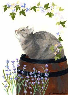 えつみ• 猫の散歩道、妮可楽、猫、插画
