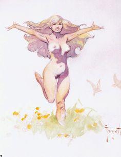 """""""Angel Hair"""" by Frank Frazetta"""