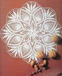 Crochet Knitting Handicraft: Crochet Doily