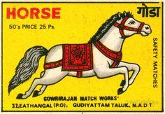 Safety Match Horse Print