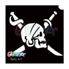 Glimmer Body Art Glitter Tattoos - BIG Pirate Skull (5/pack) by Glimmer Body Art. $10.59. Glitter Tattoos should not be applied to the face or eyes, and stencils should be used only once.. Glimmer Body Arts Glitter Tattoos are non-latex, hypoallergenic and meet all cosmetic grade safety standards.. BIG Glimmer Body Art tattoos come in a 5 pack.. Glitter Tattoos are waterproof and can last up to 7 days.. BIG Glitter Tattoos are a hefty 4 in. x 4 in.. Glimmer Body A...