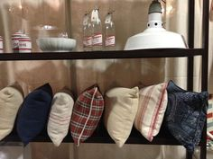 Pillows by Bainbridge Blues at Remnants of the Past