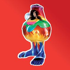 Bjork album Volta cover. Always thought that this one looked retarded, now it's just a masterpiece!