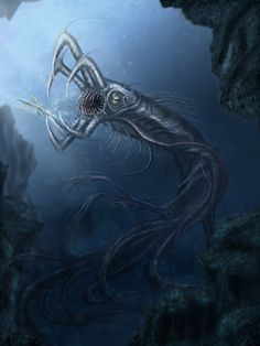 Guardian of the Sea  by ~OrmIrian Underwater Art, Underwater Creatures, Alien Creatures, Fantasy Creatures, Mythical Creatures, Sea Creatures, Subnautica Concept Art, Creature Concept Art, Creature Design