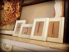 Turn Dollar Store frames into cute decor!