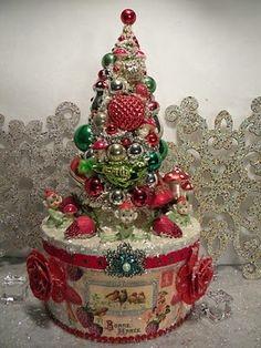 bottle brush trees christmas | Putz Houses & Bottle Brush Trees / Ms Bingles Vintage Christmas ...