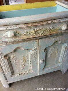 diy stripping painted furniture Stripping Painted Furniture: The Garbage Bag Trick