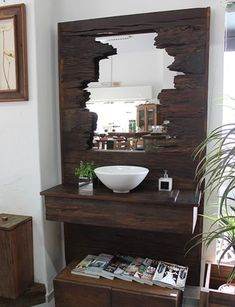 Bathroom Decor ideas Home Design Ideas: Home Decorating Ideas Bathroom Home Decorating Ideas Bathroom Shoe cabinets - Hallway furniture - Recycling - Mirrors - Antechamber - A designer st . Hall Furniture, Furniture Plans, Bathroom Furniture, Bathroom Interior, Diy Casa, Interior Decorating, Interior Design, Decorating Ideas, Recycled Furniture