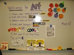 WELCOME TO THE JAMESTOWN ELEMENTARY ART ROOM!     As always, this year on the first day of school, we began with an all school project tha...