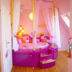 40 safe and adorable bedroom ideas for toddler girls 34 dont care for the colors but absolutely love this