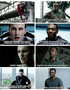 a6efd15694bd Most underrated character in the Marvel Cinematic Universe. Sam Wilson  everyone. Marvel Funny