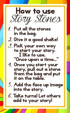 Story stones are a great way to stretch childrens' imaginations and narrative abilities, and can be gifted. Here are printable directions to make Story Stones a gift! Preschool Literacy, Early Literacy, Story Sack, Story Stones, Rock Crafts, Social Skills, Social Work, Art Therapy, Storytelling