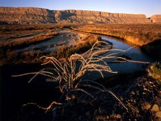 The cliffs of Santa Elena Canyon cut through Big Bend National Park in southwest Texas, one of the most remote national parks.