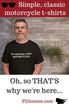 Ever wondered about the meaning of life? This motorcycle t-shirt will remind you! Meaning Of Life, Meant To Be, Motorcycles, Mens Tops, T Shirt, Supreme T Shirt, Tee, T Shirts, Motorcycle