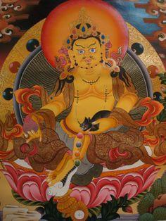 Jambala Thangka #tibetan #thangka