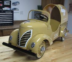 Vintage Pedal Car. (Restored)  Field Ambulance