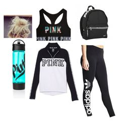 CUTEGYMDESIGN by fashionqueen06 on Polyvore featuring polyvore fashion style adidas Originals NIKE clothing